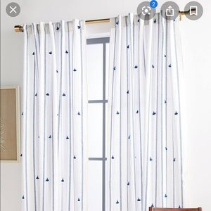 ANTHROPOLOGIE Tasseled Nara 50x108 Curtain